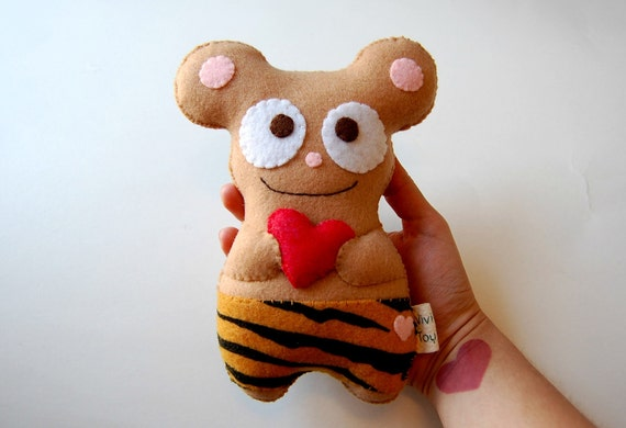 Lovely Eco Friendly Plush Bear Stuffed Toy