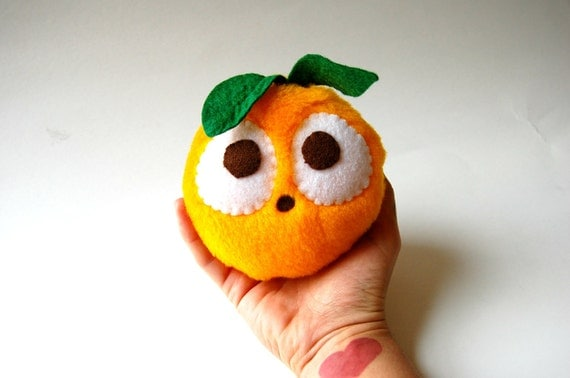 Fruity Eco Friendly Orange Plush Toy