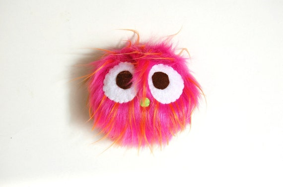 Eco Friendly Pocket Monster Plush Toy In Pink