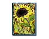 ACEO Sunflower Adoration  (Giclee Print)