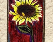 Ah Sunflower...ACEO Original
