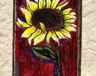 Ah Sunflower...ACEO Original