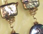 Glowing Irridescent Pearl Earrings