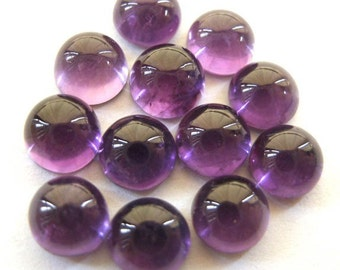 Gemstone Cabochon Amethyst 6mm Round FOR ONE