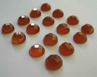 Gemstone Cabochons Red Onyx Checkerboard Cut 10mm FOR TWO