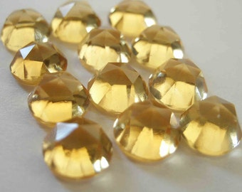 Gemstone Cabochons Citrine Rose Cut 6mm FOR ONE