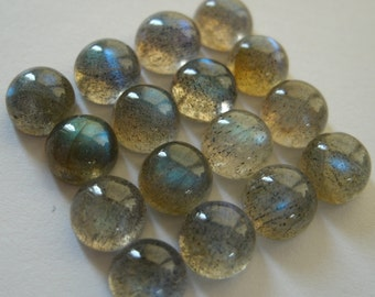 Gemstone Cabochons Labradorite Round 6mm FOR TWO