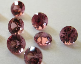 Gemstones Faceted Red Pyrope Garnet Diamond Cut AAA 4mm FOR EIGHT