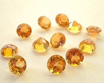 Faceted Gemstone Topaz Twilight Brilliant Cut 6mm FOR LAST ONE