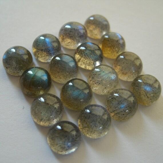 Gemstone Cabochons Labradorite Round 4mm LAST FOUR