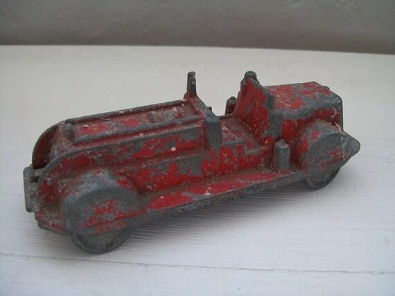Vintage Cast Metal Fire Truck/Engine,Needs TLC