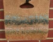Felted Handbag  Tan Subtle Stripe