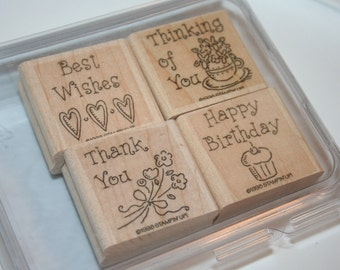 Stamping Up Set Simple Wishes Retired