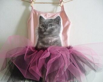 Hello Kitty - Cat Tutu - Cat Party Tutu - Cat Leotard - Kitty Party - Birthday Tutu - Toddler Tutu