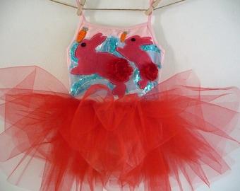 Bunny Rabbit Dress - Bunny Tutu - Bunny Leotard - Spring Dress - Spring Tutu - Birthday tutu