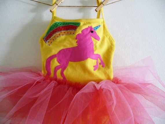UNICORN LEOTARD TUTU- Rainbow Tutu - Unicorn Tutu -  Personalized Tutu - Birthday Tutu