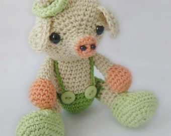 Amigurumi Crochet Pattern - Little Pig - Softie - Plush