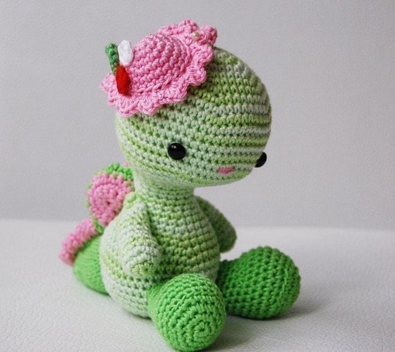 Amigurumi Pattern Miss Dragon by pepika on Etsy