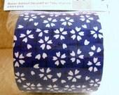 Japanese Fabric Tape Cherry Blossom Sakura Blue