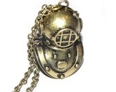Steampunk Deep Sea Diver Helmet - 2 pc