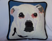 Custom 8 Inch Square Pillow of  Your Pets Portrait