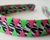 Wild Pink and Lime Zebra Custom for Merrillhayden ONLY