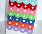 "Multi Colored Scalloped Greeting Card ""Rainbow"""