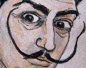 ACEO: Salador Dali Original Portrait by PATIENCE