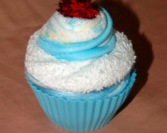Infant Washcloth Cupcake