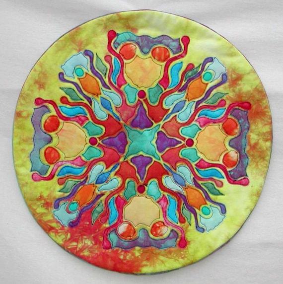 Autumn Earth Mandala Art Quilt