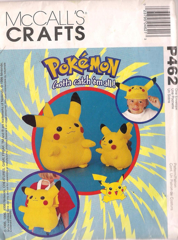 Pikachu Sewing Pattern Pokemon - 616.3KB