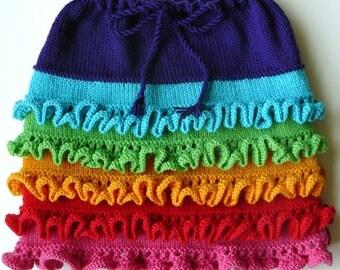 Arwen Girl's Skirt - KNITTING PATTERN PDF by Christine Jones