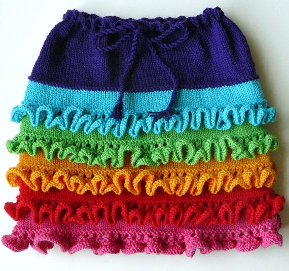 Knitting Skirt Girl : Arwen girl s skirt knitting pattern pdf by christine