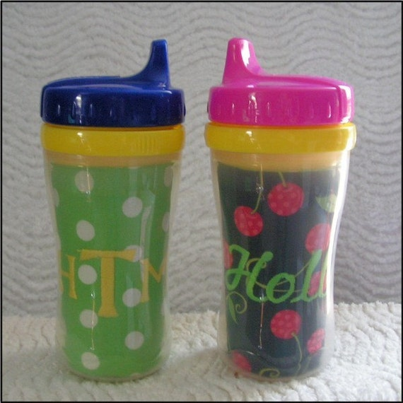 personalized sippy cup insert