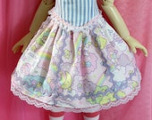 Skirt for MSD BJDS also fits Kaye Wiggs Leekeworld Art Body Cute Sweet Lolita Sanrio Twin Stars  Kiki and Lala Fairy Kei
