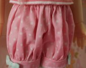 MSD Kaye Wiggs Fairy Kei Bloomers Shorts Mint and Pink Pastel Cute Lolita BJD Doll