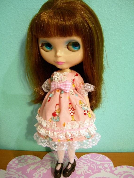 SALE Blythe Pullip Pink Sweet Alice Dress Gothic Lolita