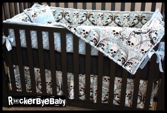 Custom Punk Baby Crib Bedding Set You Choose The By Rockerbyebaby