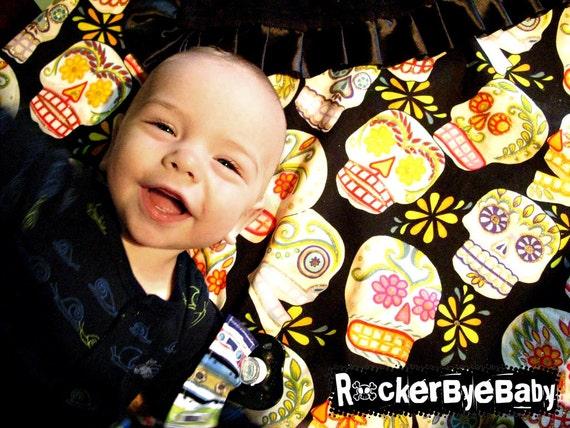 Punk Rock Cotton Crib Sheet CUSTOM to match your bedding You pick your designer print girl boy unisex nursery decor