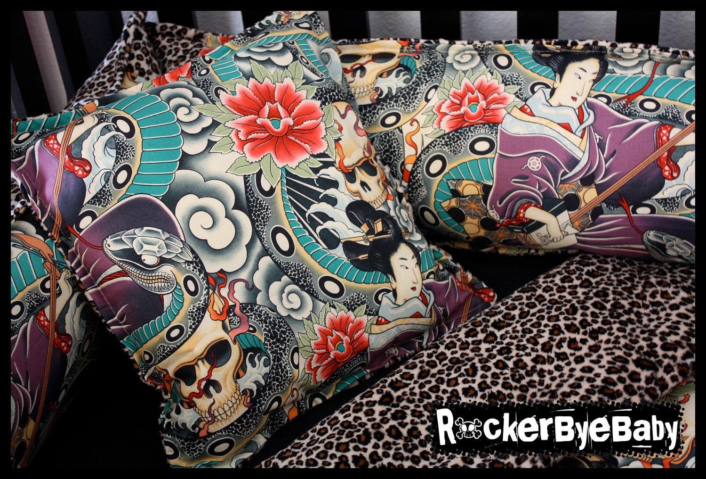 Custom Zen Charmer Baby 4 Piece Crib Bedding Set By