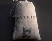 Organic Catnip (Cat Nip) Loose in a Hand Stamped Bag Cat Feline