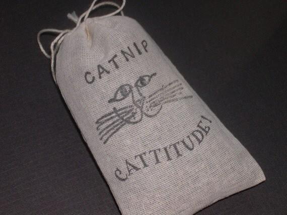 Organic Catnip (Cat Nip) Loose in a Hand Stamped Bag Cats Cat