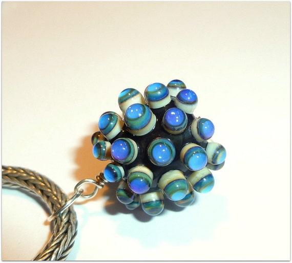 Luccicare Lampwork Bead - Berry Pendant