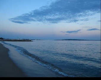 Nighttime photography, Sea photography, France Photography, Wave photography, Wave print, 8x10, 5x7