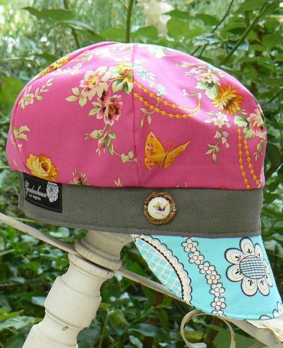 Bon Bouquet Hat No. 4 - a vintage modern floral womens neswboy hat