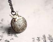 Flight - bird and floral locket necklace