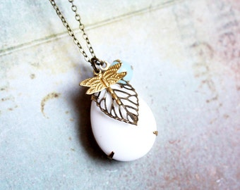 Woodland Necklace - whimsical, romantic, bohemian, vintage necklace, gift for her under 20