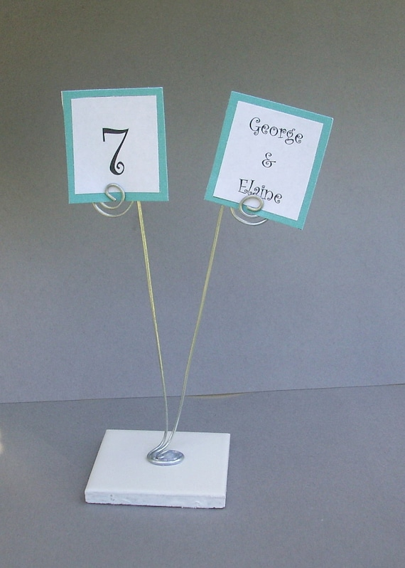 RESERVED Wire Placecard Holder for place cards table  |Reserved Table Sign Holder