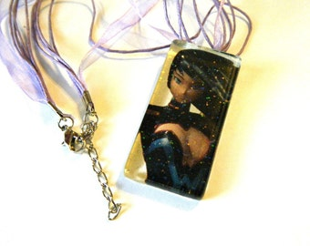 Donna Troy  anime recycled comic book pendant DISCOUNTED