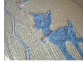 Vintage Chenille Crib Blanket - Baby Deer